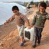 Desplazados en el norte de Siria, cerca de Turquía, por el conflicto  Foto: Jodi Hilton/IRIN