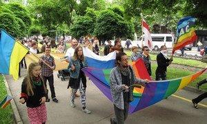 Lesbian, Gay, Bisexual, Transgender and Intersex (LGBTI) pride march.