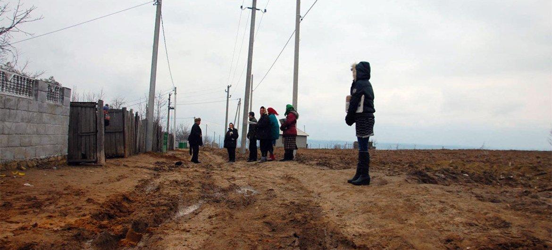A Romani settlement in Schinoasa, Moldova.
