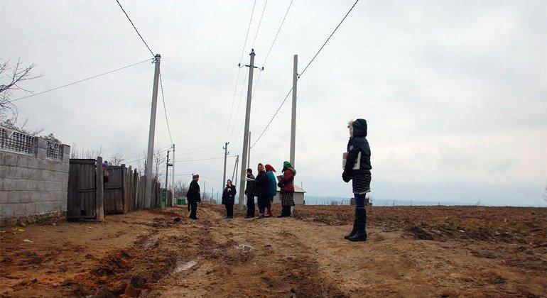 Поселение цыган в Молдове/Фото ООН