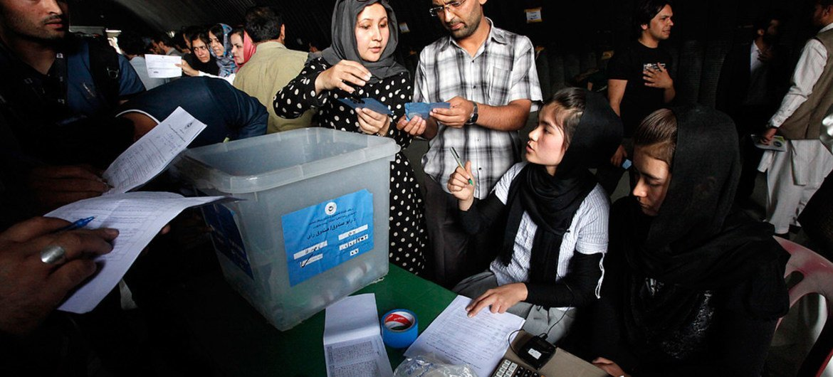 The Independent Election Commission (IEC) of Afghanistan continued with the audit process on the results from the country's Presidential election run-off held on 14 June 2014.