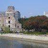 Le Mémorial de la Paix d'Hiroshima, ou Dôme de Genbaku, fut le seul bâtiment à rester debout près du lieu où explosa la première bombe atomique, le 6 août 1945.
