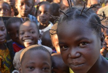 Children at a school in Batangafo, Central African Republic.