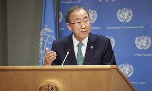 Le Secrétaire général Ban Ki-moon au siège de l'ONU à New York (archives). Photo ONU/Paulo Filgueiras