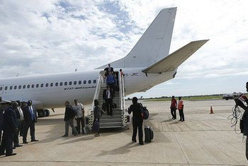 UN Security Council members arriving in Juba for a two-day visit to South Sudan.