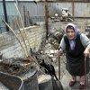 Mujer afectada por las hostilidades en el este de Ucrania  Foto: ACNUR/ Iva Zimova