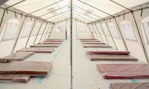 UNICEF assisted the Liberian government and Médecins Sans Frontières (MSF) to complete an expansion of the ELWA Ebola Treatment Centre outside Monrovia, creating the largest such facility in history.