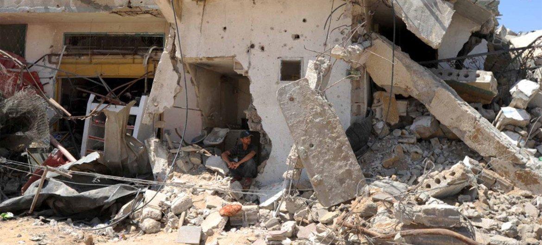 UNRWA estimates around 17,000 destroyed or damaged homes, rendering 100,000 people homeless in Gaza.