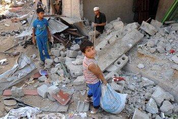 Destrozos en la Franja de Gaza por el operativo militar israelí.