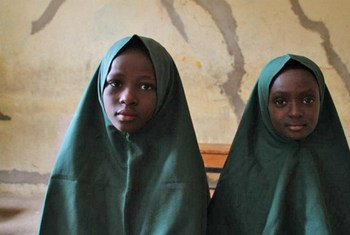 Students at a school operated by Future Prowess Islamic Foundation in Maiduguri, Nigeria, which provides free primary education for orphans and vulnerable children.