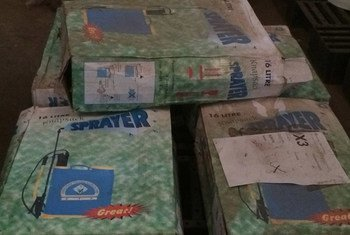 UNICEF has supplied its partners in Guinea with materials for disinfecting hospitals including sprayers and cleansers to prevent further spread of Ebola.