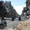 من الأرشيف - دمار ناجم عن القتال في مخيم اليرموك