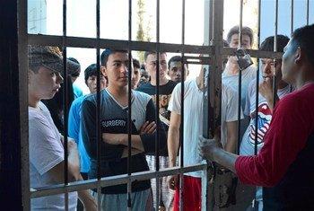 Centro de detención de migrantes en Makassar, Indonesia. Foto: IRIN/Kristy Siegfried