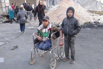 Afectados por el conflicto en Gaza  Foto.  UNRWA Archivos/Rami al Sayyed