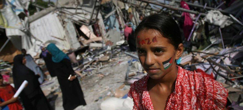 Des civils à Gaza.