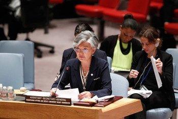 Kyung-wha Kang informa al Consejo de Seguridad. Foto: ONU/Loey Felipe