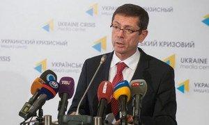 Assistant Secretary-General for Human Rights Ivan Šimonović presents report in Kyiv.