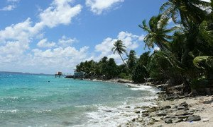 Nukunonu Atoll seaside is one of the regions of the world vulnerable to the impact of the climate change.