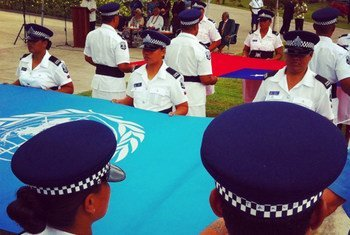 The UN and Samoan flags are raised in the capital, Apia, for the UN Conference on Small Island Developing States.