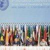 El Secretario General de la ONU, Ban Ki-moon.  en la apertura de la Conferencia de Pequeños Estados Insulares en Desarrollo, celebrada en Samoa  Foto.ONU/E. Schneider