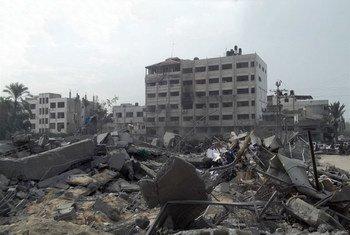 Zonas de Gaza destruidas por el último operativo militar israelí  Foto. IRIN/Ahmed Dalloul
