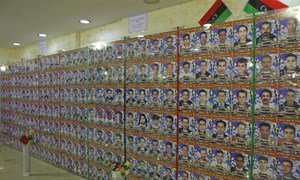 A memorial in Misrata for some of the thousands killed during the  2011 Libyan civil war.