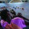 Manusura wa ukatili wa kingono akiwa Monrovia, Liberia.