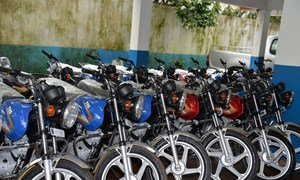WHO has donated 24 motorcycles to the Ministry of Health in Guinea to support Ebola contact tracing activities in eight districts in the country.
