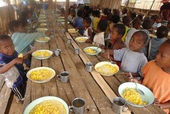 WFP-sponsored school meals (file)