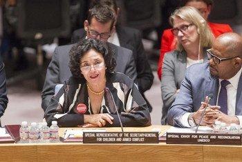 Leila Zerrougui, defensora principal de la ONU de la protección de los niños afectados por el conflicto armado. Foto de archivo: ONU/Loey Felipe