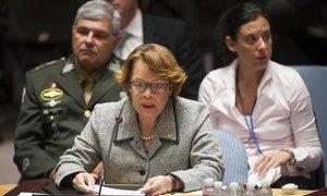 La Représentante spéciale du Secrétaire général pour Haïti, Sandra Honoré. Photo ONU/Eskinder Debebe