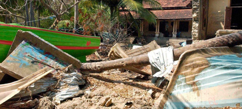 Когда-то в этой рыбацкой деревушке на севере Шри-Ланке жили люди. Цунами разрушил их жизнь.