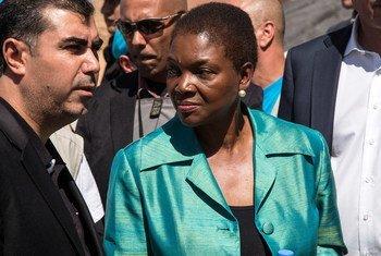 La chef de l'humanitaire de l'ONU, Valerie Amos. Photo OCHA/Iason Athanasiadis