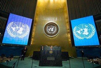 联大会堂资料图片。联合国图片/Eskinder Debebe