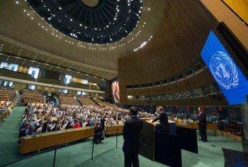 联大会堂。联合国图片/Eskinder Debebe
