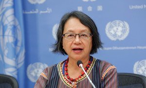 Special Rapporteur on the rights of indigenous peoples Victoria Tauli-Corpuz.