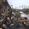 Destrucción causada en Tacloban, Filipinas, por el tifón Haiyan. Foto de archivo: OCHA/Gemma Cortes