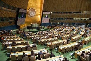 La Asamblea General de la ONU durante la Conferencia Mundial sobre los Pueblos Indigenas   Foto.  ONU/Mark Garten