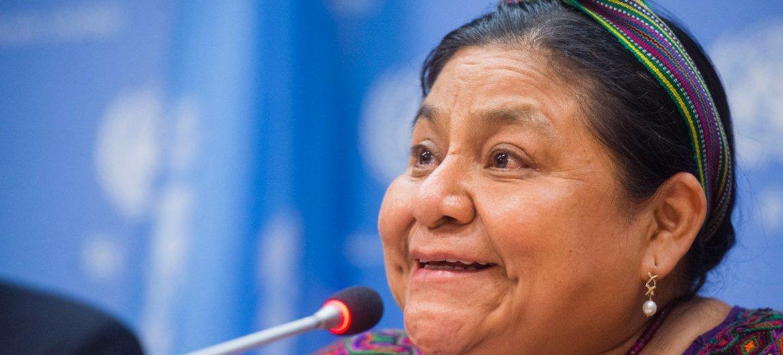 Nobel Peace Prize winner Rigoberta Menchú.