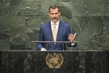 El Rey de España, Felipe VI   Foto de archivo:ONU/Cia Pak