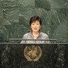 韩国总统朴槿惠资料图片。联合国图片/Cia Pak