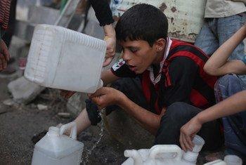Afectados por el conflicto en Siria  Foto: UNICEF/Bassam Khabieh