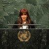 La presidenta de Argentina, Cristina Fernández. Foto de archivo: ONU/Cia Pak