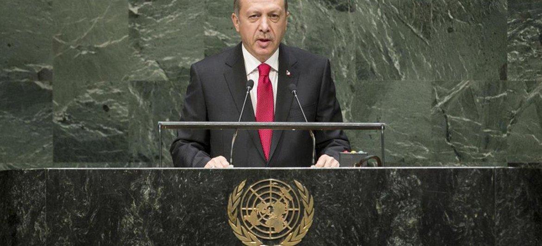 Le Président de la Turquie, Recep Tayyip Erdogan. Photo ONU/Cia Pak