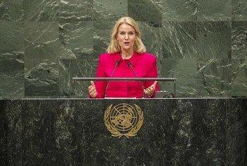 La Première ministre du Danemark, Helle Thorning-Schmidt. Photo ONU/Hubi Hoffmann