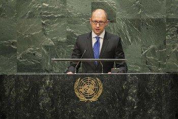 Le Premier ministre d'Ukraine Arseniy Yatsenuk. Photo ONU/Hubi Hoffmann