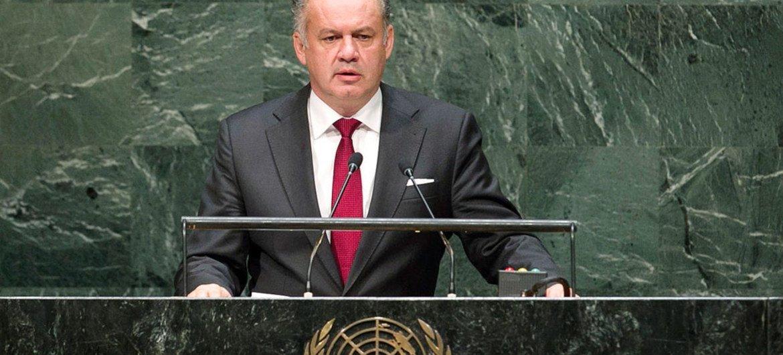 President Andrej Kiska of the Slovak Republic addresses  the General Assembly.