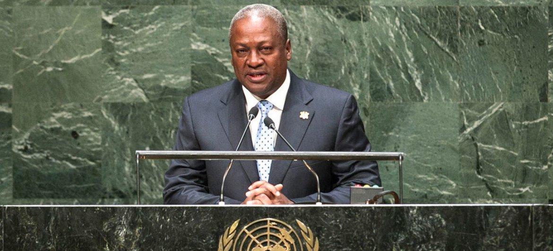 President John Dramani Mahama of Ghana addresses  the General Assembly.