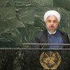 Le Président de la République islamique d'Iran, Hassan Rouhani. Photo ONU/Cia Pak