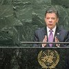 El presidente Juan Manuel Santos Calderón. Foto: ONU/Cia Pak